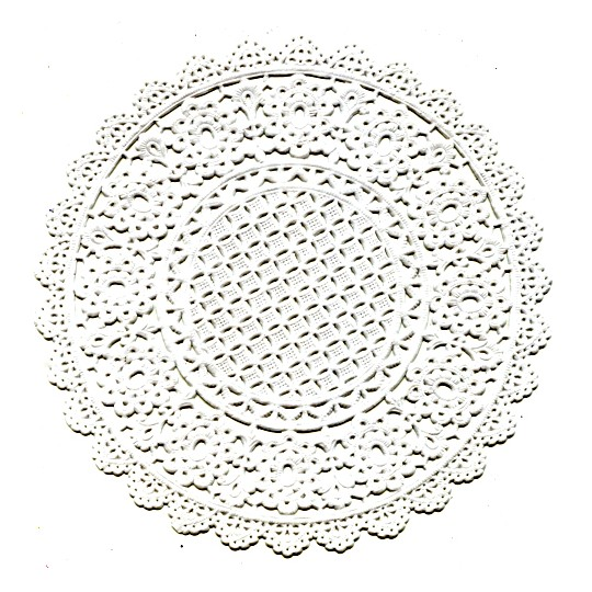 """15 Delicate White Floral Doilies ~ Germany ~ 5"""""""