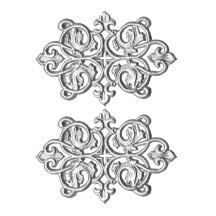 Silver Dresden Foil Ornate Flourishes ~ 6