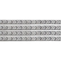 Silver Leaf and Berry Dresden Foil Trim ~ 3/16""