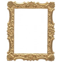 Antique Gold Dresden Foil Ornate Shell Frame ~ 1