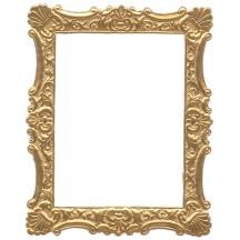 Antique Gold Dresden Foil Ornate Shell Frame ~ 1