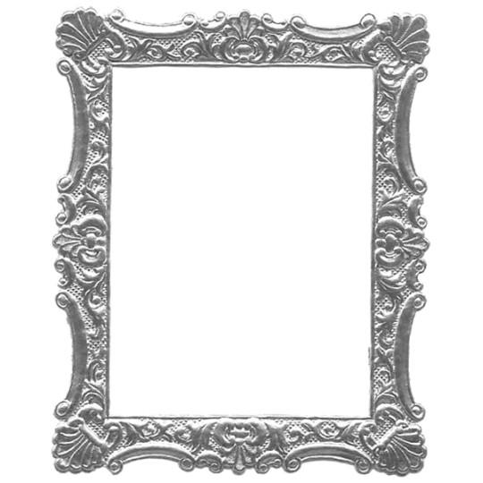 Silver Dresden Foil Ornate Shell Frame ~ 1