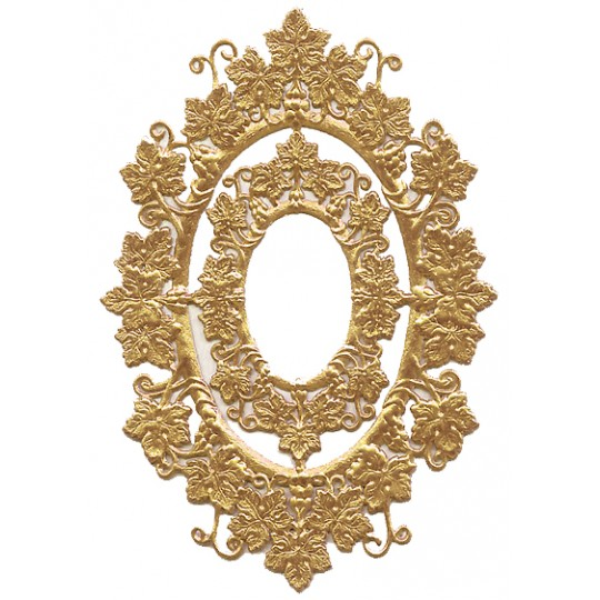 Antique Gold Foil Grape Leaf Frames ~ 2