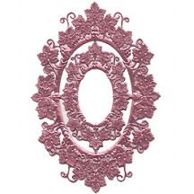 Pink Foil Grape Leaf Frames ~ 2