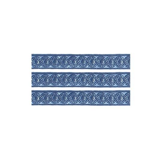 """Steel Blue Dresden Foil Scrolled Dot Trim ~ 5/16"""" wide"""