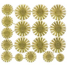 Assorted Gold Dresden Foil Celestial Halos ~ 18 Assorted