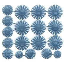 Assorted Light Blue Dresden Foil Celestial Halos ~ 18 Assorted
