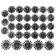 Small Black Dresden Foil Celestial Halos ~ 32 Assorted