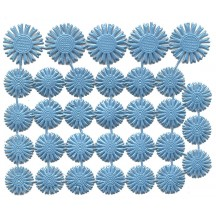 Small Light Blue Dresden Foil Celestial Halos ~ 32 Assorted