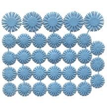 Small Light Blue Dresden Foil Celestial Halos ~ 32 Assorted
