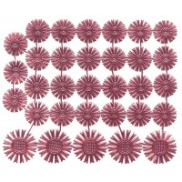 Small Pink Dresden Foil Celestial Halos ~ 32 Assorted