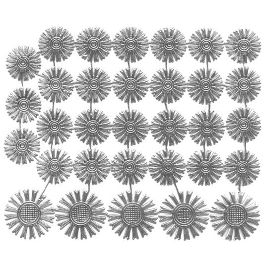 Small Silver Dresden Foil Celestial Halos ~ 32 Assorted