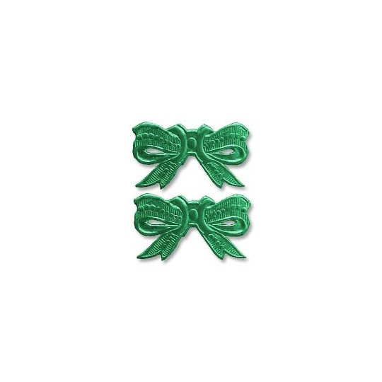 Green Dresden Foil Medium Bows ~ 10