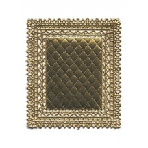 Gold Ornate Quilted Dresden Foil Doily ~ 1
