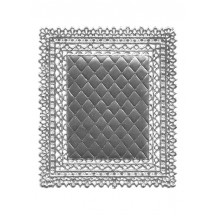 Silver Ornate Quilted Dresden Foil Doily ~ 1