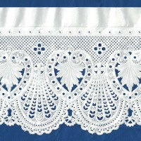 "Extra Wide White Fancy Paper Lace Dresden Trim ~ 4-3/4"" wide"