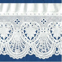 """Extra Wide White Fancy Paper Lace Dresden Trim ~ 4-3/4"""" wide"""