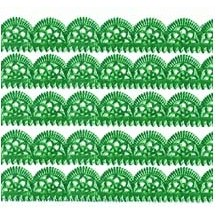 "Green Dresden Scalloped Trim ~ 1/2"" wide"