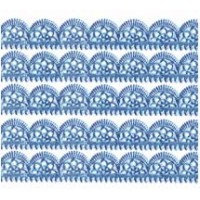 "Steel Blue Dresden Scalloped Trim ~ 1/2"" wide"