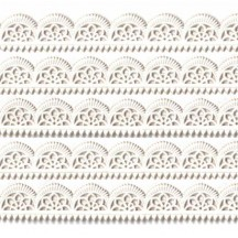 "White Dresden Scalloped Trim ~ 1/2"" wide"