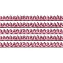 """Pink Miniature Beaded Fleur de Lis Dresden Trim ~ 3/16"""""""