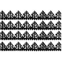 "Black Dresden Baroque Trim ~ 1/2"" wide"