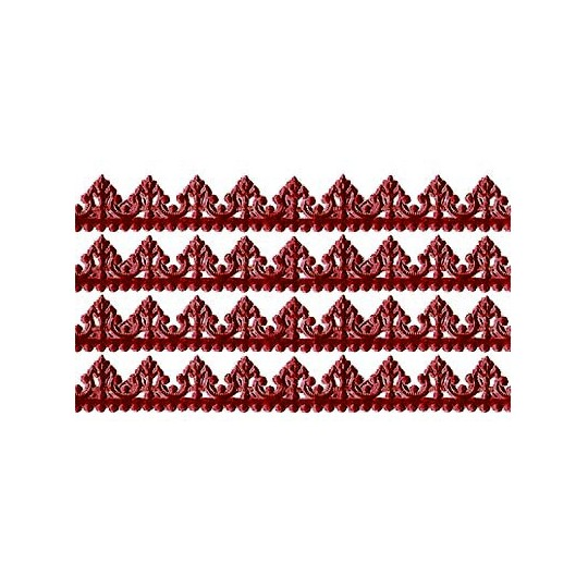 "Burgundy Dresden Baroque Trim ~ 1/2"" wide"