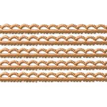 "Antique Gold Scalloped Petite Dresden Foil Trim ~ 3/16"""