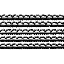 Black Scalloped Petite Dresden Foil Trim ~ 3/16""