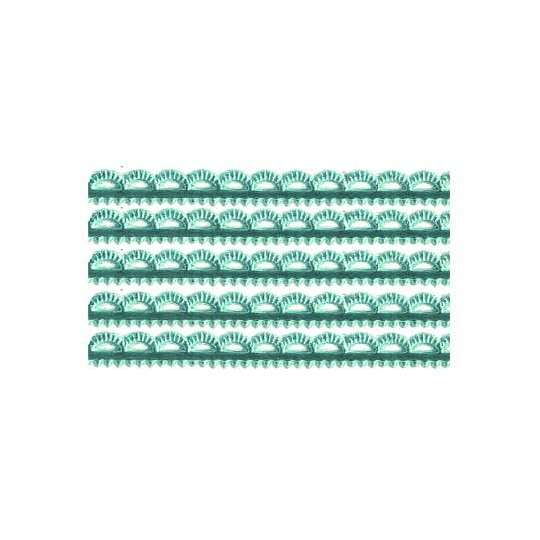 Aqua Scalloped Petite Dresden Foil Trim ~ 3/16""