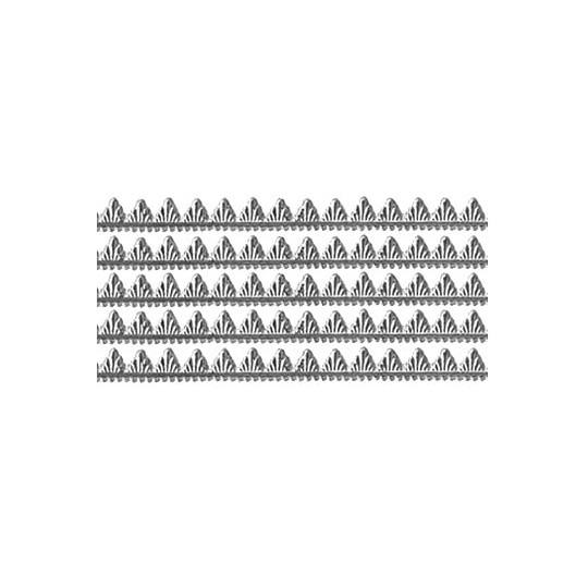 "Silver Petite Pennant Dresden Foil Trim ~ 1/8"""