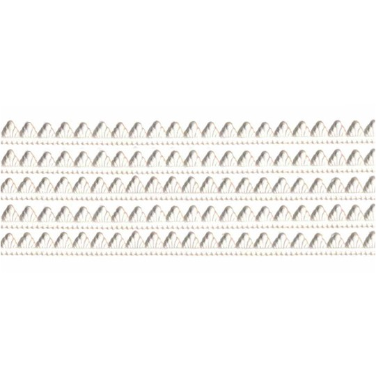 White Petite Pennant Dresden Paper Trim ~ 1/8""