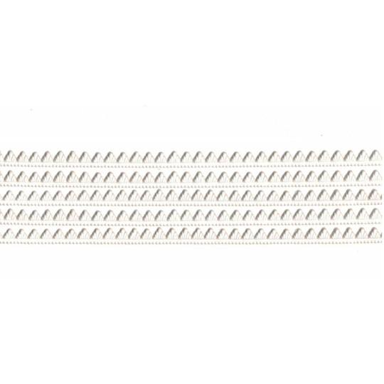 "White Petite Pennant Dresden Paper Trim ~ 1/8"""