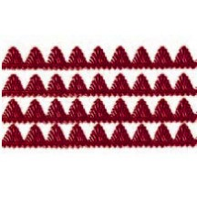 "Burgundy Dresden Pennant Point Trim ~ 1/4"" wide"