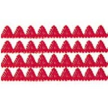 "Red Dresden Pennant Point Trim ~ 1/4"" wide"