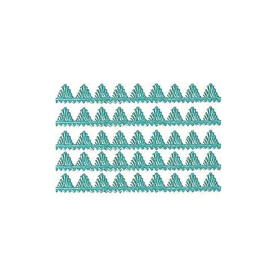 "Aqua Dresden Pennant Point Trim ~ 1/4"" wide"