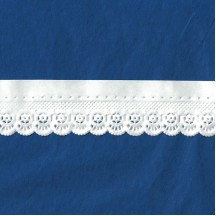 "White Paper Lace Dresden Pointelle Wheel Trim ~ 1"" wide"