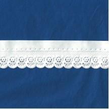 "White Paper Lace Dresden Pointelle Wheel Trim ~ 1"" wide"