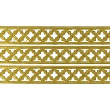"Gold Dresden Gothic Quadrofoil Trim ~ 1/2"" wide"