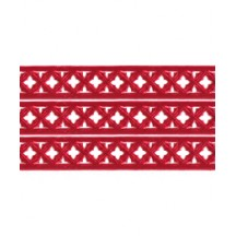 "Red Dresden Gothic Quadrofoil Trim ~ 1/2"" wide"