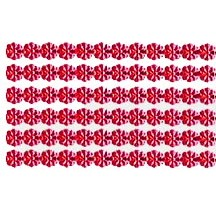 "Red Dresden Petite Flower Trim ~ 1/8"" wide"