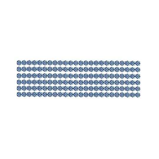 "Steel Blue Dresden Petite Flower Trim ~ 1/8"" wide"