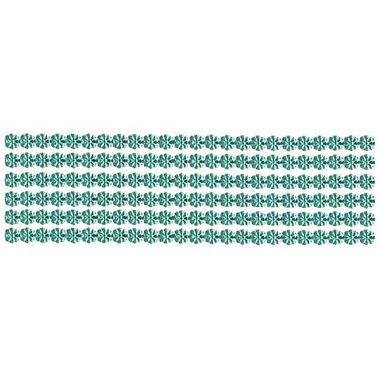 "Aqua Dresden Petite Flower Trim ~ 1/8"" wide"