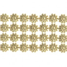 "Gold Dresden Flower Trim ~ 1/4"" wide"