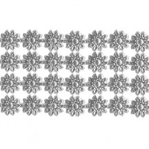 "Silver Dresden Flower Trim ~ 1/4"" wide"