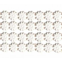 "White Paper Dresden Flower Trim ~ 1/4"" wide"