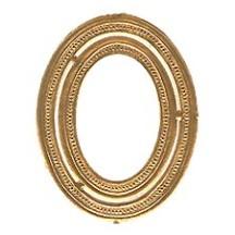 Beaded Antique Gold Dresden Foil Frames ~ 8