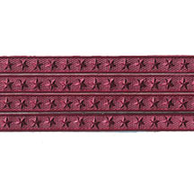 Burgundy Star Dresden Foil Trim ~ 3/16""