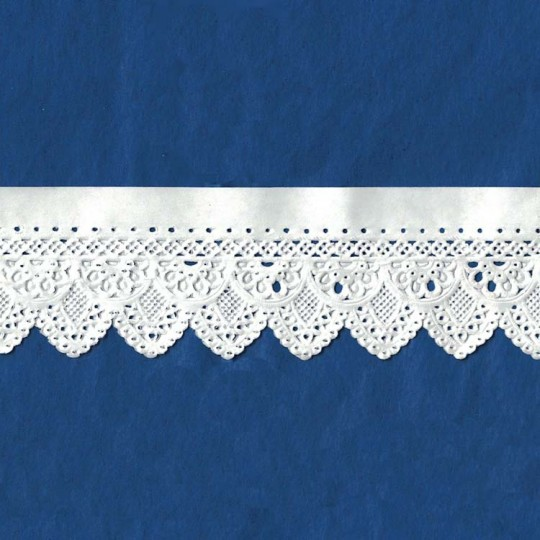 "White Paper Lace Dresden Scalloped Doily Trim ~ 1-5/8"" wide"