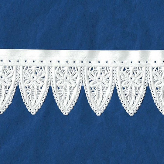 """White Paper Lace Dresden Large Scalloped Doily Trim ~ 2"""" wide"""